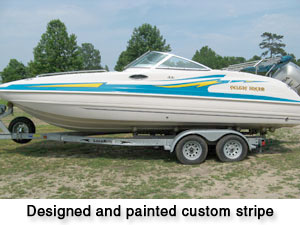 Marine Striping For Boats http://oceanaboatworks.com/painting.htm